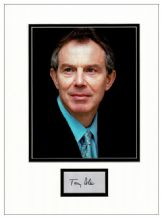 Tony Blair Autograph Signed Display
